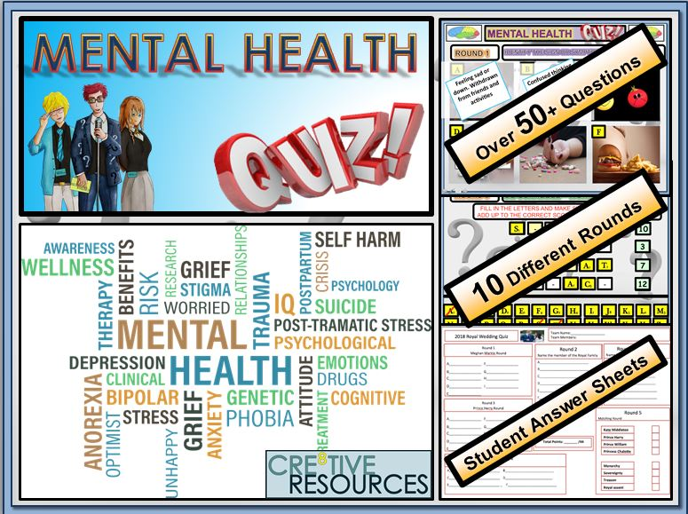 Cre8tive Resources - Mental Health Quiz Lesson - FUN/C8/QZ/10