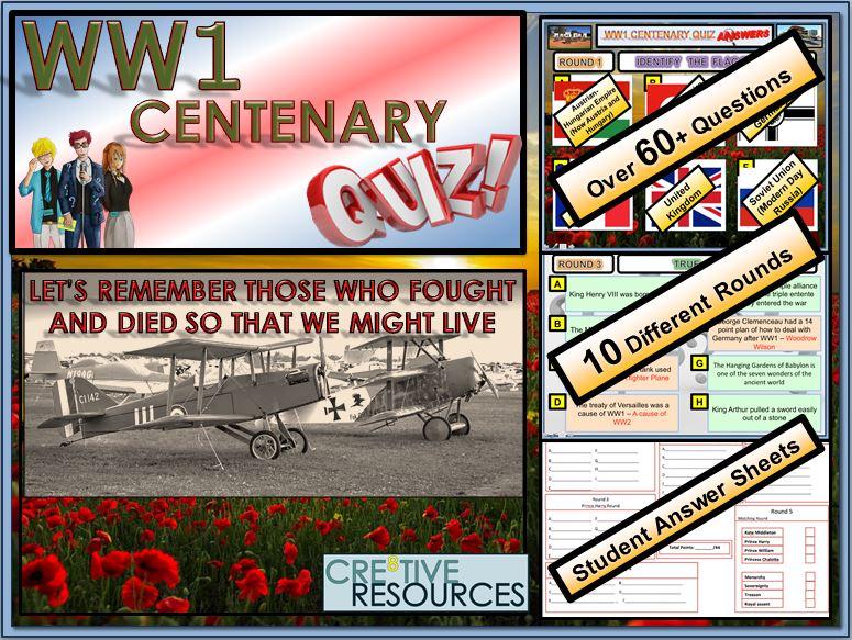 World War 1 Centenary Quiz Lesson - FUN/C8/QZ/40